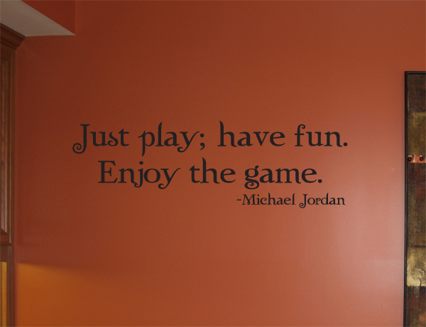 Just Play Enjoy Game Fun Wall Decals