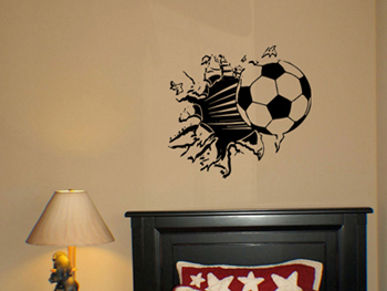 Balls Bursting From Wall Wall Decal