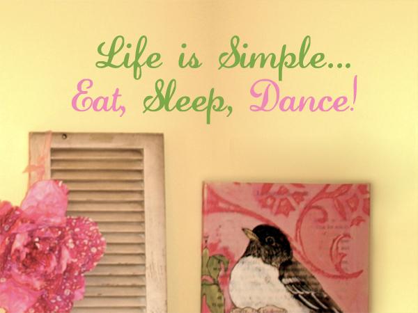 Eat Sleep Dance Wall Decal