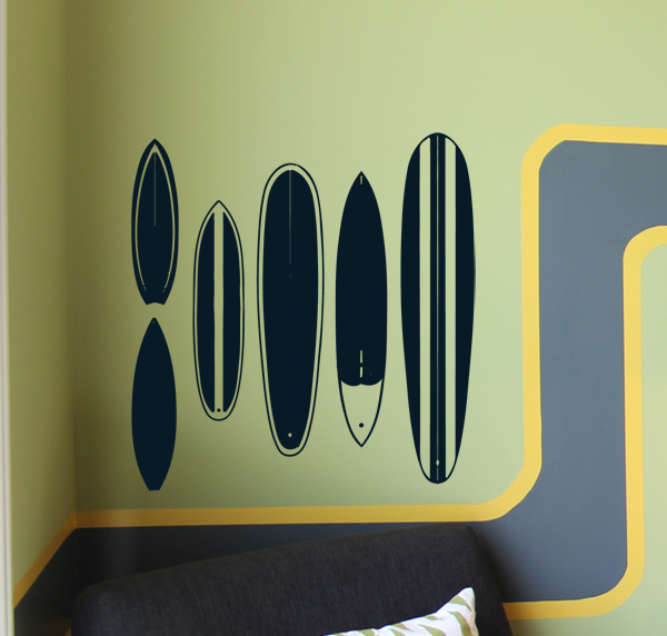 Surfboards Wall Decal