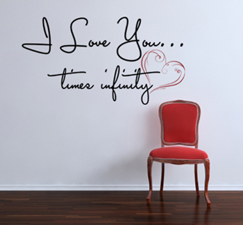 Love You Times Infinity | Wall Decal
