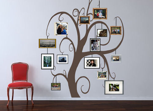 Stretched Photo Tree Wall Decal