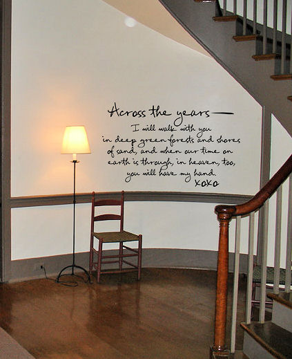 Across The Years Wall Decal