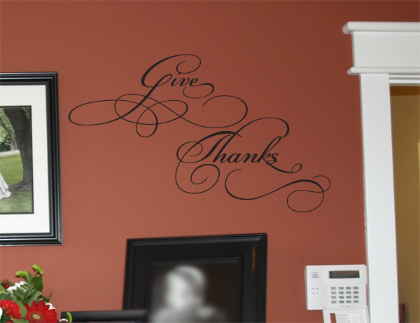 Give Thanks 2 Wall Decals