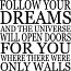 Follow Your Dreams | Wall Decals