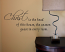 Christ Head of House Wall Decal