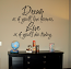 Dream Live Wall Decal
