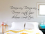 Dream On Wall Decal