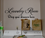 Laundry Room Drawers Wall Decal