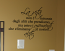 Life Is Not Measured Italian Wall Decal