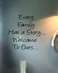 Family Story Welcome Wall Decal
