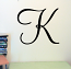 Monterey Initial Wall Decal