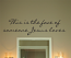Face Jesus Loves Cursive Wall Decal