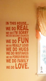 In This Home Rectangle Wall Decal