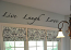 Cursive Live Laugh Love Wall Decal