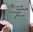 Cursive Moments To Remember Forever Wall Decal