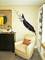 Giant Feather Flock Wall Decal
