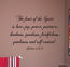 Script Fruit of The Spirit Wall Decal