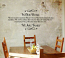 In Our Home We Are Family Wall Decal