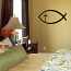 Christian Fish with Cross Wall Decal