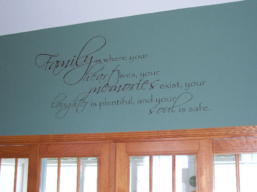 Family Heart Memories  Wall Decals