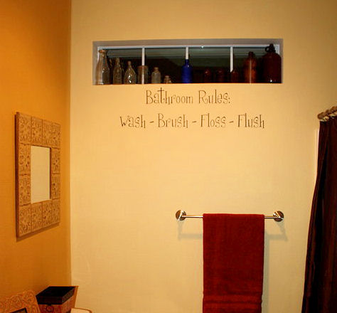 Bathroom Rules Bath Wall Decals