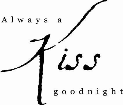 Always a Kiss Goodnight | Wall Decal
