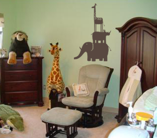 Animal Stack Wall Decals