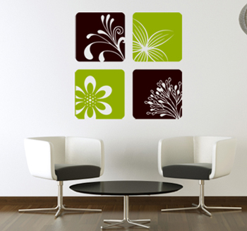 Nature Squares 1 Wall Decal