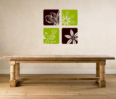 Nature Squares 3 Wall Decal
