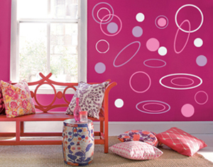 Oval and Circle Wall Decal