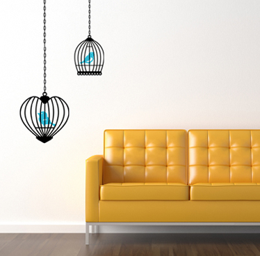 Chain Cages Wall Decal