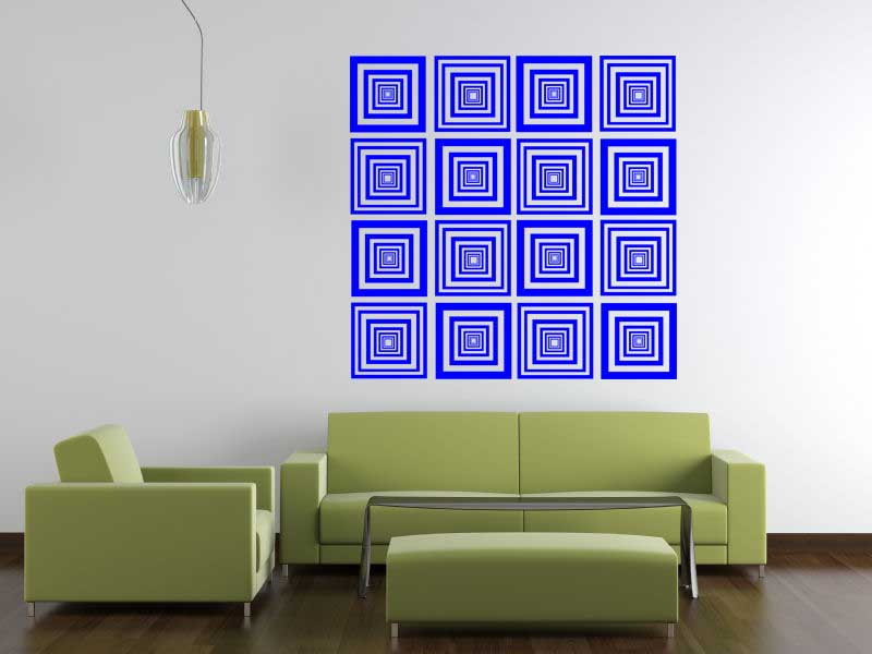 Whoa Squares II Wall Decal