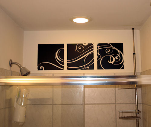 Large Triple Panel Swirl Scrolls Wall Decal