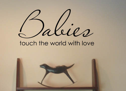 Babies Touch Wall Decals