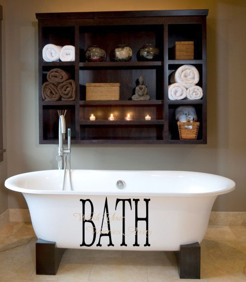 Bath Wash Your Worries Overlay Wall Decal