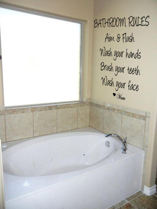 Bathroom Rules Wall Decal