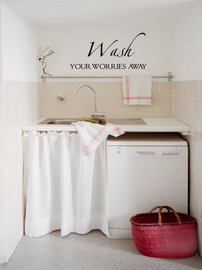 Wash Worries Away Wall Decal