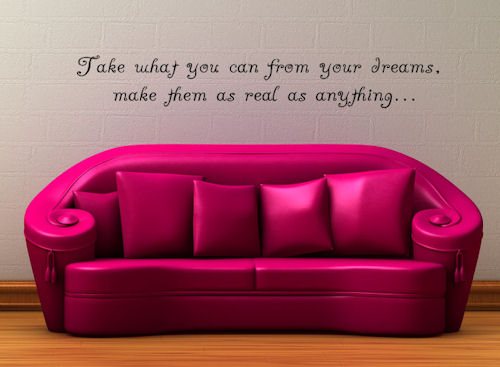 Take What You Can From Dreams Wall Decals