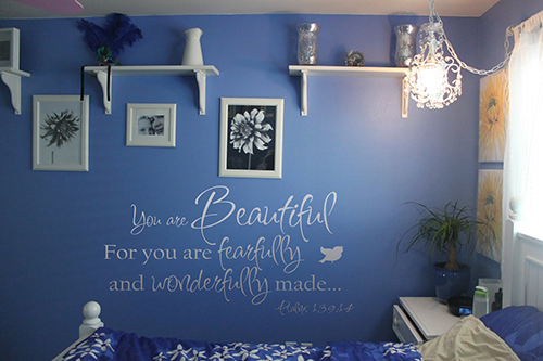 You Are Beautiful Fearfully Wonderfully Made Wall Decals