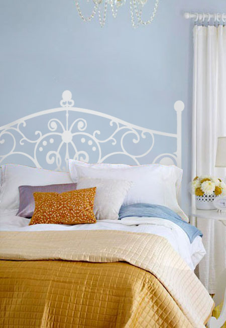 stunning wrought iron queen headboard and headboards wrought iron headboard beautiful wall decals 1847
