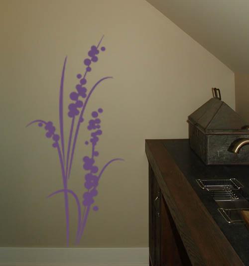 Flowering Grass Wall Decal