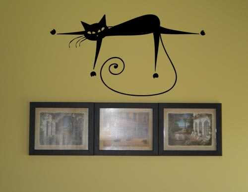 Lazy Cat Wall Decal