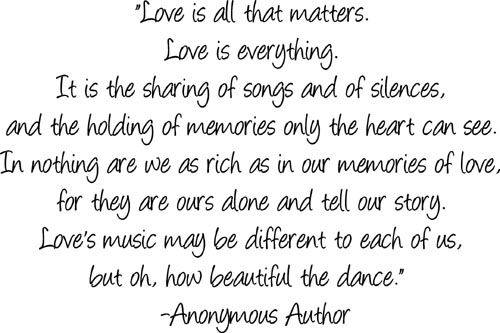 Love Is All That Matters | Wall Decal
