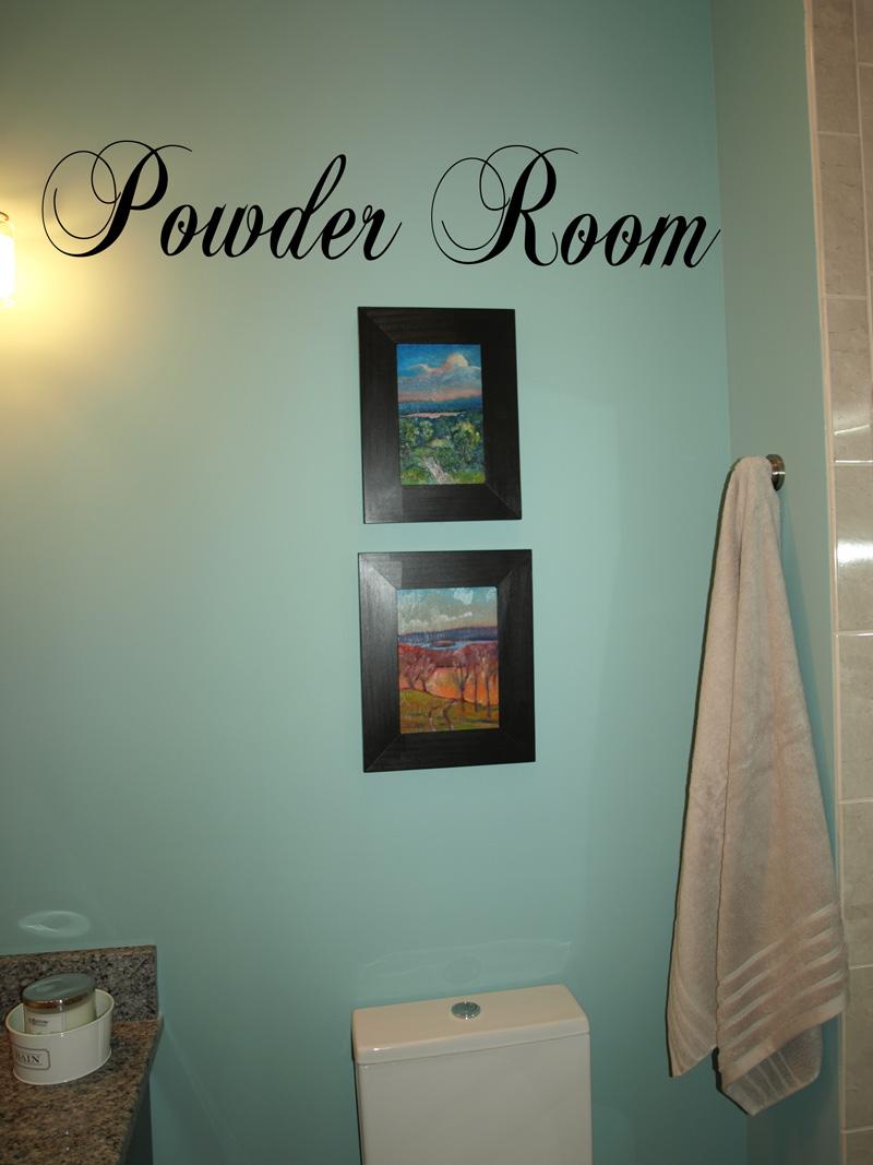 Powder Room Wall Decal