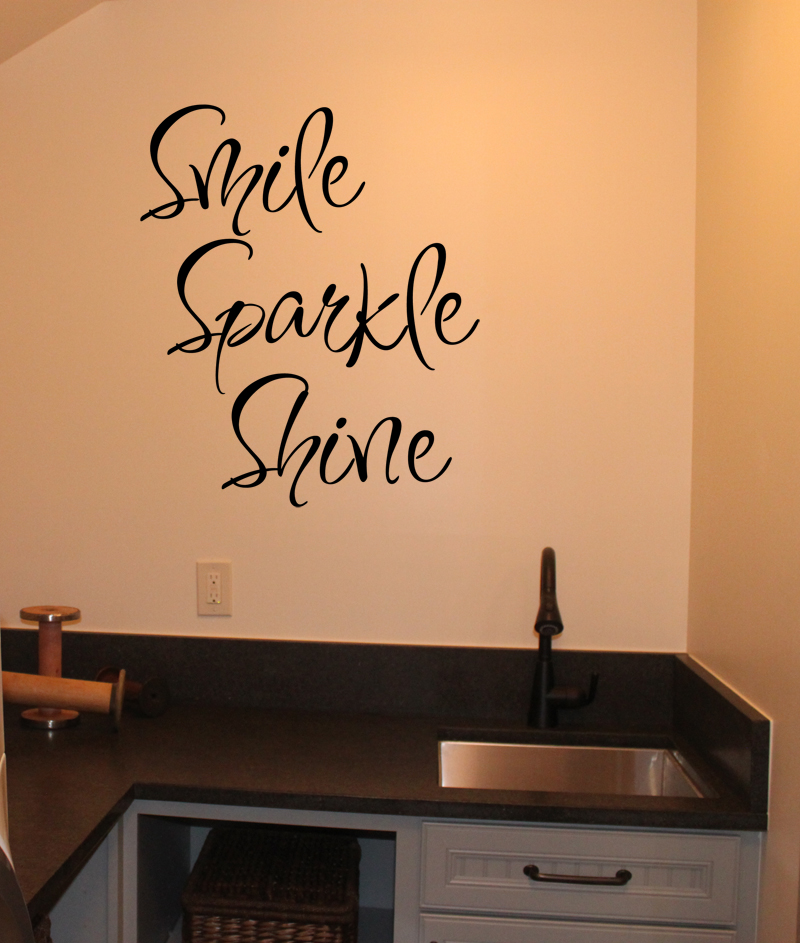 Smile Sparkle Shine Wall Decal