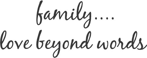 Family Love Beyond Words | Wall Decals