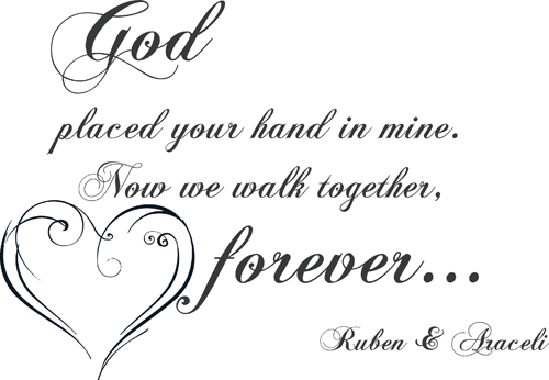 Walk Together Forever | Wall Decal