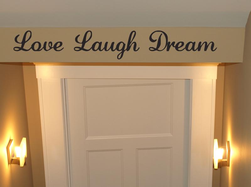Love Laugh Dream Wall Decal