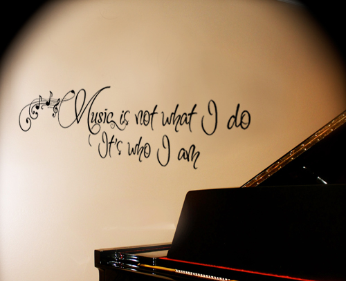 Music Who I Am Wall Decal
